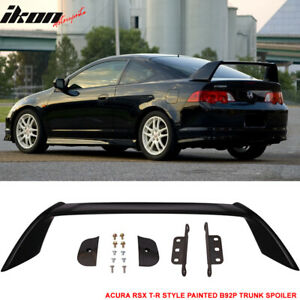 02 06 Acura Rsx Dc5 Type R Trunk Spoiler Painted Nighthawk Black Pearl B92p