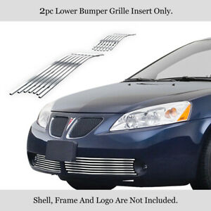 Fits 2005 2009 Pontiac G6 Lower Bumper Chrome Billet Grille Insert