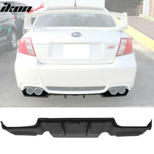Fits 11 14 Subaru Impreza Wrx Sti Rear Bumper Lower Air Flow Diffuser Splitter