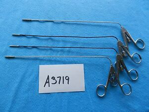 Pilling Surgical Ent 3mm X 30cm Center action Grasping Forceps Lot Of 4
