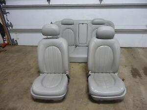 06 10 Buick Lucerne Front Rear Leather Bucket Seats A51 W O Heated Grey