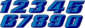 3d Beveled Chiseled Race Car Numbers Vinyl Graphic Decal