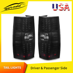 Led Brake Tail Lights For 2007 2014 Chevy Suburban Tahoe Black Smoke Rear Lamps