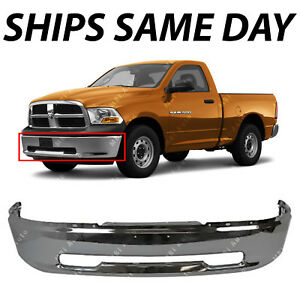 New Chrome Steel Front Bumper For 2009 2010 2011 2012 Dodge Ram 1500 Pickup