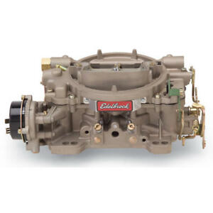 Edelbrock Carburetor 1410 Performer 750 Cfm 4 Barrel Vacuum Secondary Iridited