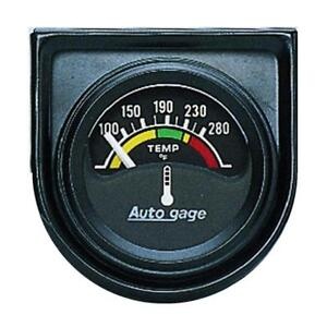 Auto Meter Coolant Temperature Gauge 2355 Auto Gage 100 To 280 f 1 1 2