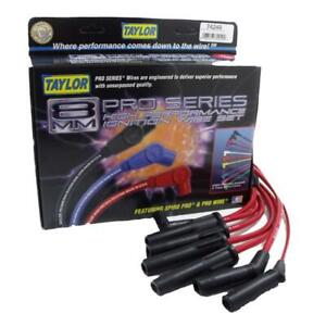 Taylor Spark Plug Wire Set 74249 Spiro Pro 8 0mm Red For Jeep 4 0l Power Tech