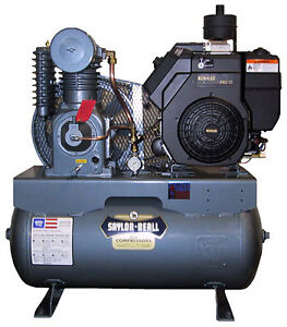 New Saylor beall 18 Hp 38 4 Cfm Splash Lub Compressors With Diesel Engine
