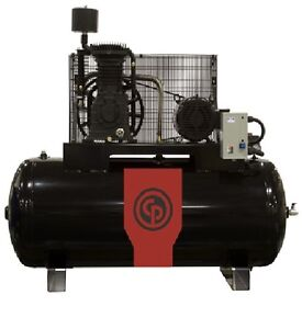New Chicago Pneumatic 10hp Air Compressor Cast Iron Two Stage Elec Rcp c10123h