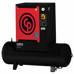 Chicago Pneumatic 3 Hp Tank Mounted Rotary Compressor With Dryer Qrs 3 0 Hpd 1