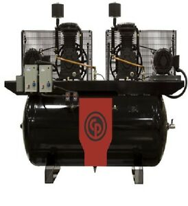 New Chicago Pneumatic 20hp Air Compressor Two Stage Electric Duplex Rcp c20123d