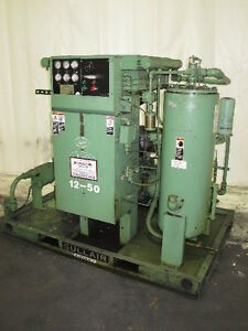 Used 50 hp Sullair Rotary Air Compressor 12bs 50l Skid Open