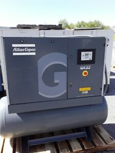Used 30 Hp Atlas Copco Rotary Air Compressor In Quiet Encloser Ga 22 2008