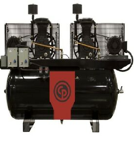 Chicago Pneumatic 20 Hp Air Compressor Two Stage Electric Duplex Rcp 20123d