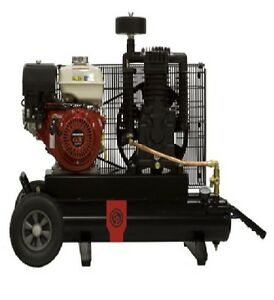 New Chicago Pneumatic 9 Hp Air Compressor Two Stage Gasoline Rcp 908h