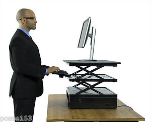Electric Standing Desk Converter Adjustable Sit Stand Up Varidesk Alternative