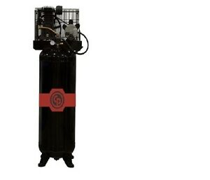 Chicago Pneumatic 5 Hp Cast Iron Air Compressor Two Stage Electric Rcp c583vs