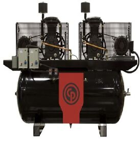 Chicago Pneumatic 20 Hp Air Compressor Two Stage Elec Duplex Rcp c20203d4