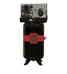 New Chicago Pneumatic 5 Hp Cast Iron Air Compressor Two Stage Elec Rcp c581v