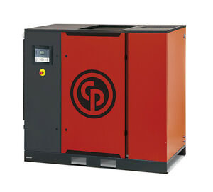 Chicago Pneumatic New 40 Hp Gear Drive Rotary Screw Compressor With Dryer