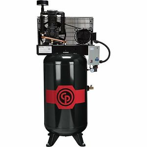 New Chicago Pneumatic 10hp Air Compressor Premium Cast Iron Elec Rcp c10123v4