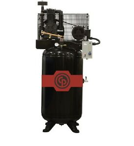 New 10hp Chicago Pneumatic Cast Iron Air Compressor Two Stage Elec Rcp c10123vs