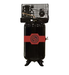 New Chicago Pneumatic 7 5hp Cast Iron Air Compressor Two Stage Elec Rcp c7581v