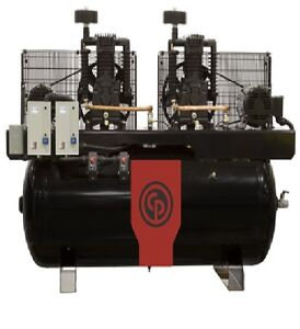 New Chicago Pneumatic 20 Hp Air Compressor Special Single Phase Power 230 1