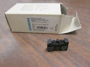 Siemens Contact Block 3sb3 400 0b Screw Terminal Front Plate Mounting New Surp