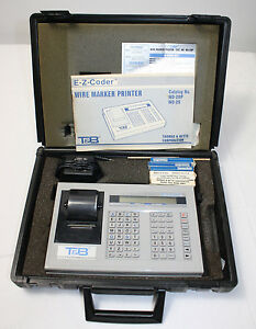 Thomas Betts E z Coder Wire Marker Printer Wd 20p