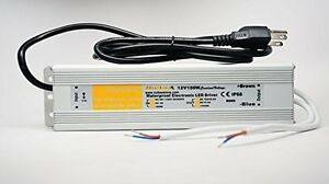 150 Watt Waterproof Led Power Supply Driver Transformer 120 To 12 Volt Dc Output