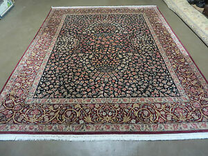 8 X10 Vintage Fine Hand Made Pak Persian Kerman Lavar Kirman Wool Rug Carpet