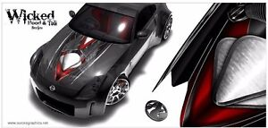 Race Car Truck Hood Wrap Vinyl Graphic Decal Style Wicked