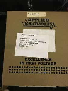 Applied Kilovolts K9 74 Power Supply Waters Micromass Zmd