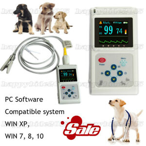 Handheld Veterinary Pulse Oximeter Cms60d vet With Tongue Spo2 Probe Software