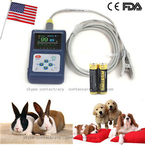 Usa Handheld Veterinary Pulse Oximeter Cms60d vet tongue Spo2 Probe sw battery