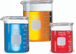 Corning Borosilicate Glass Heavy Duty Griffin Beaker Graduated 150ml Cap 48 cs