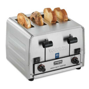 Conair Waring Wct850rc Heavy Duty Bread And Bagel 4 slice Commercial Toaster
