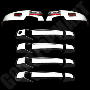 Chrome Lower Mirror W Sign Door Handles Covers For Chevy Suburban 07 14
