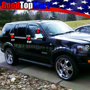 For Ford 2006 2010 Explorer Sport Trac 2007 10 Chrome Covers Set Mirrors Doors