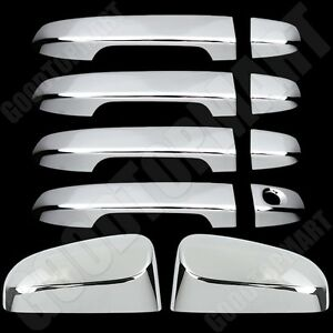 Chrome Top Mirror W Out Sign Door Handles Covers For Toyota Camry 2012 2014