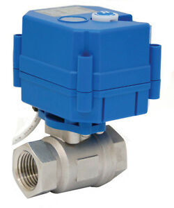 3 4 Electric Actuated Ball Valve 110 Vac Stainless Steel new
