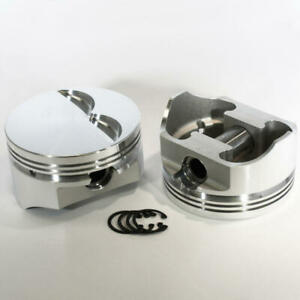 Dss Racing Piston Set 8715 4060 E 4 060 Forged Flat For Chevy 383 Sbc Stroker