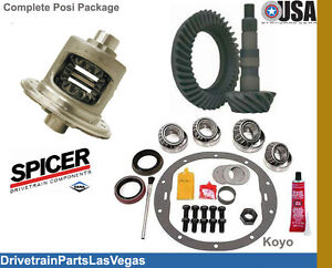 Dana 44 30 Spline Trac Lock Posi Package Gear Set 3 54 Ratio Rebuild Kit New