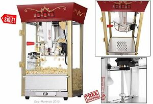 Popcorn Machine Commercial Movie Theater Style Carnivals Party 8 Oz Tabletop New