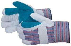 72 Pair Double Palm Split Leather Palm Work Gloves Men s Large Brand New