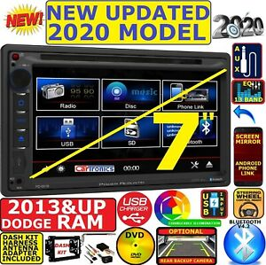 2013 Up Ram Dvd Cd Touchscreen Bluetooth Double Din Car Stereo Radio
