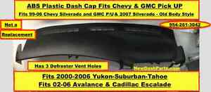 Chevy Gmc Suburban Yukon Denali Tahoe Avalanche Dash Cap 3 Defroster Vents