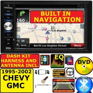 95 02 Gm Truck Suv Dvd Cd Usb Gps Navigation System Bluetooth Car Stereo Radio