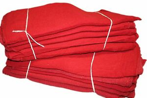 15000 Pcs Red Cotton Shop Towels Rags first Grade New Wipers